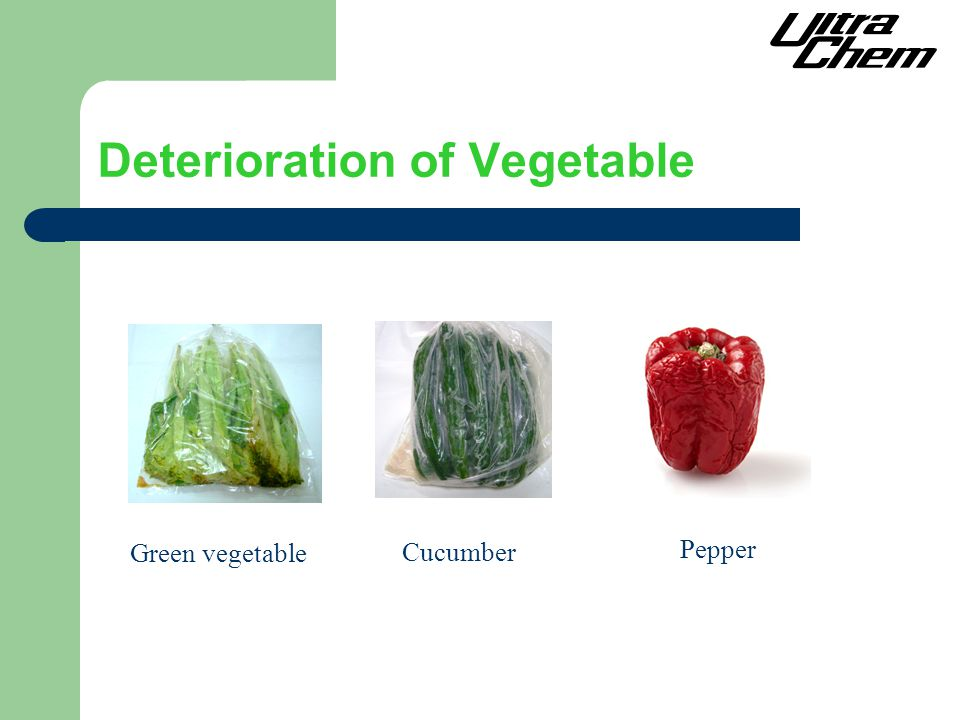 Deterioration of Vegetable Green vegetable Cucumber Pepper