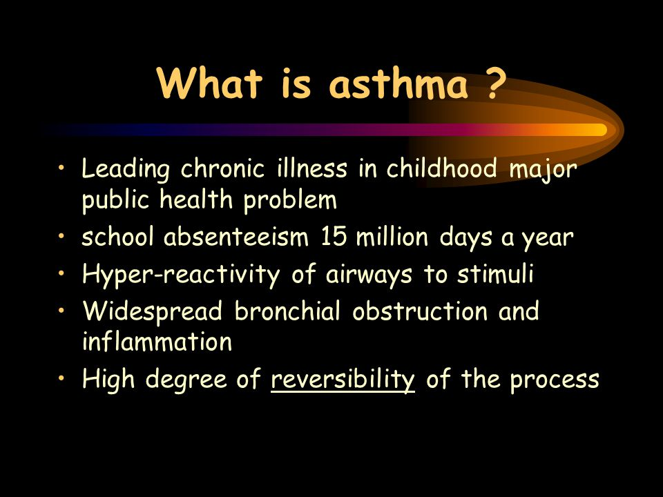 What is asthma .