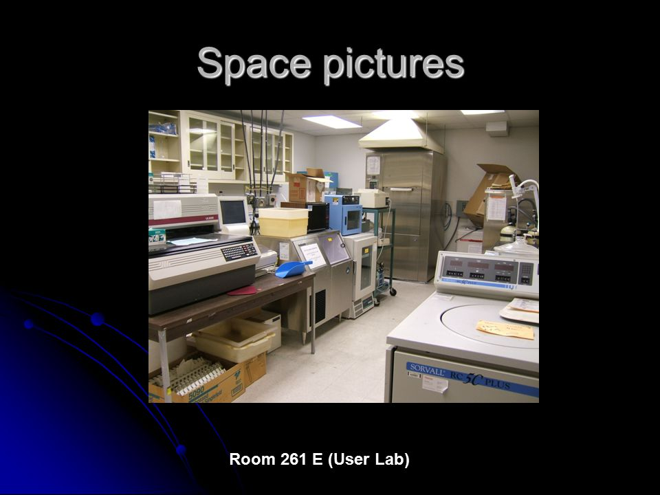 Space pictures Room 261 E (User Lab)