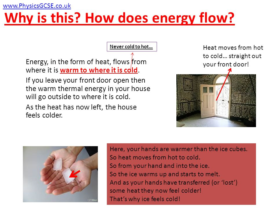 Why is this. How does energy flow.