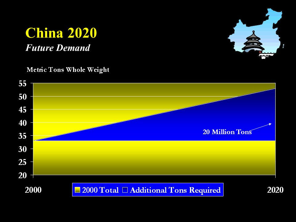 China 2020 Future Demand 20 Million Tons