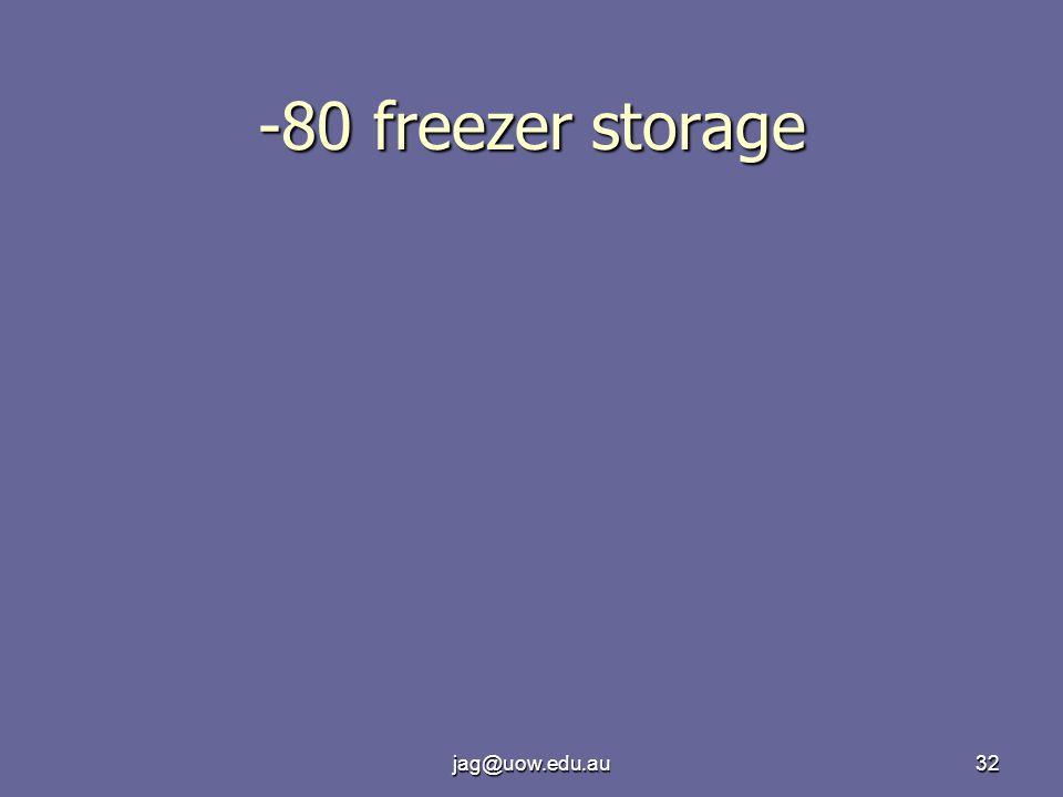 jag@uow.edu.au32 -80 freezer storage