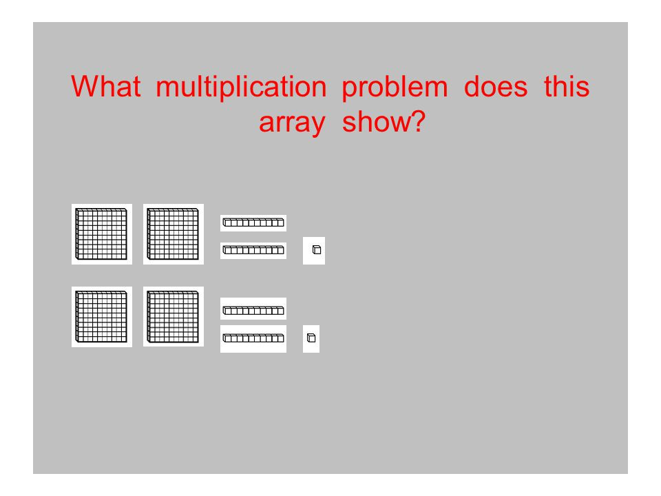 What multiplication problem does this array show