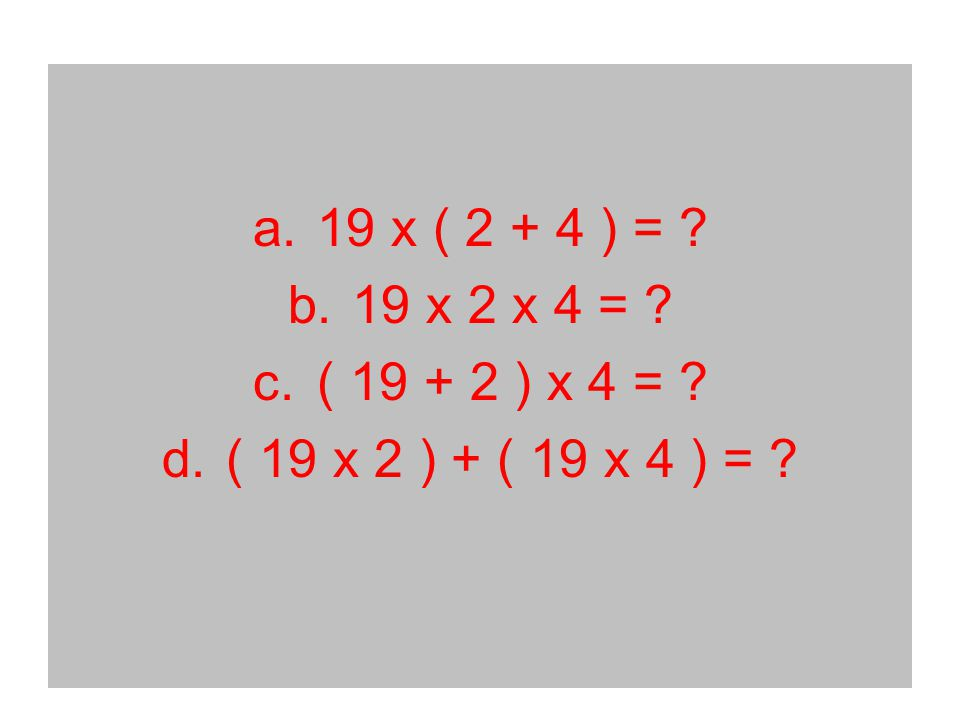 Use breaking apart to find the answer.56 x 34 1. 56 x 34 30 4 2.