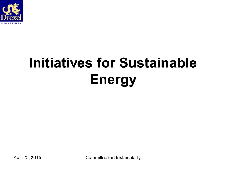 April 23, 2015Committee for Sustainability Building Automation