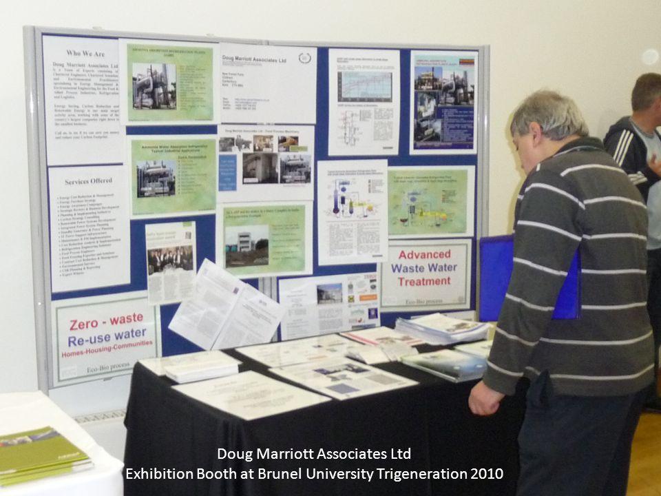 Doug Marriott Associates Ltd Exhibition Booth at Brunel University Trigeneration 2010