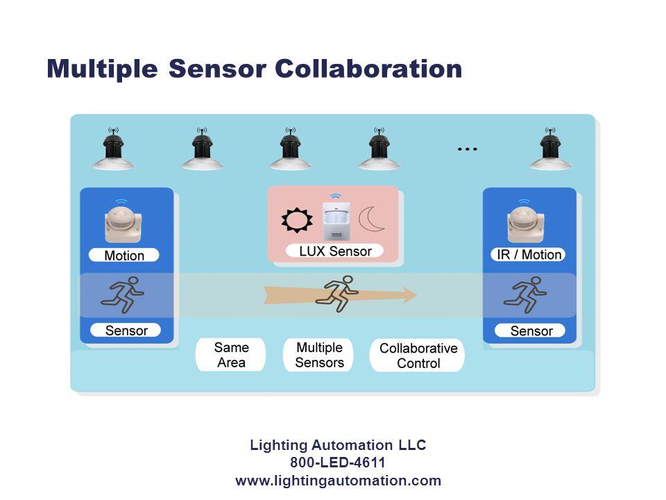 Multiple Sensor Collaboration Lighting Automation LLC 800-LED-4611 www.lightingautomation.com