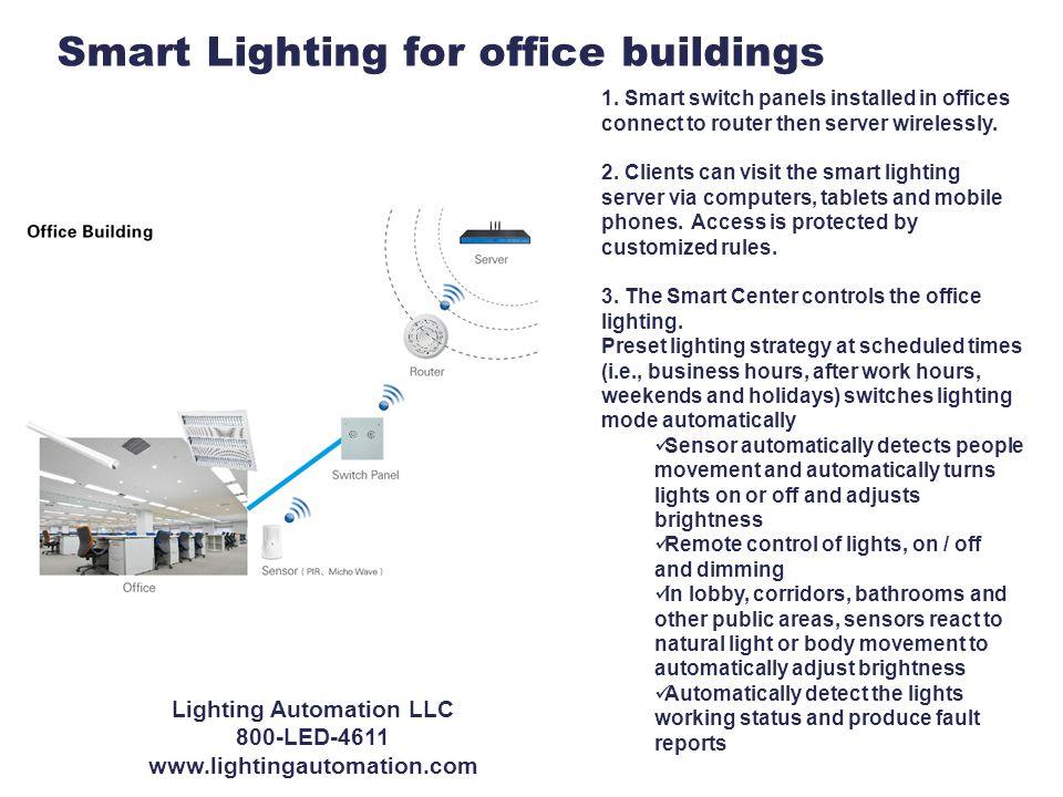Smart Lighting for office buildings 1.