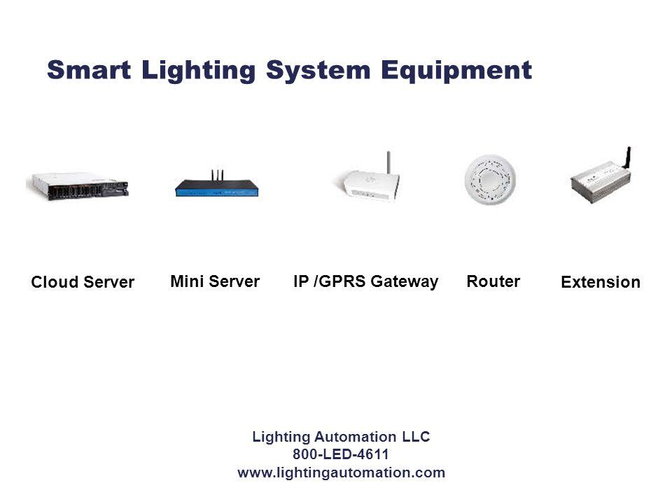 Smart Lighting System Equipment Mini Server Cloud Server IP /GPRS GatewayRouter Extension Lighting Automation LLC 800-LED-4611 www.lightingautomation.com