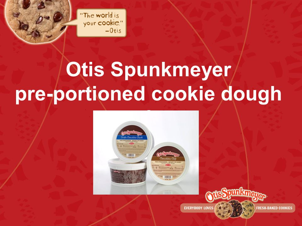 Otis Spunkmeyer pre-portioned cookie dough tubs