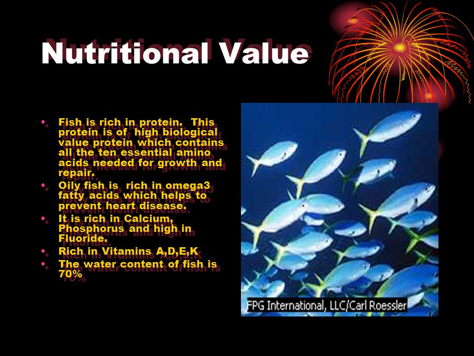 FishFish Nutritional valueNutritional value Fish ClassificationFish Classification Buying and storing fishBuying and storing fish Ways in which fish is used and soldWays in which fish is used and sold
