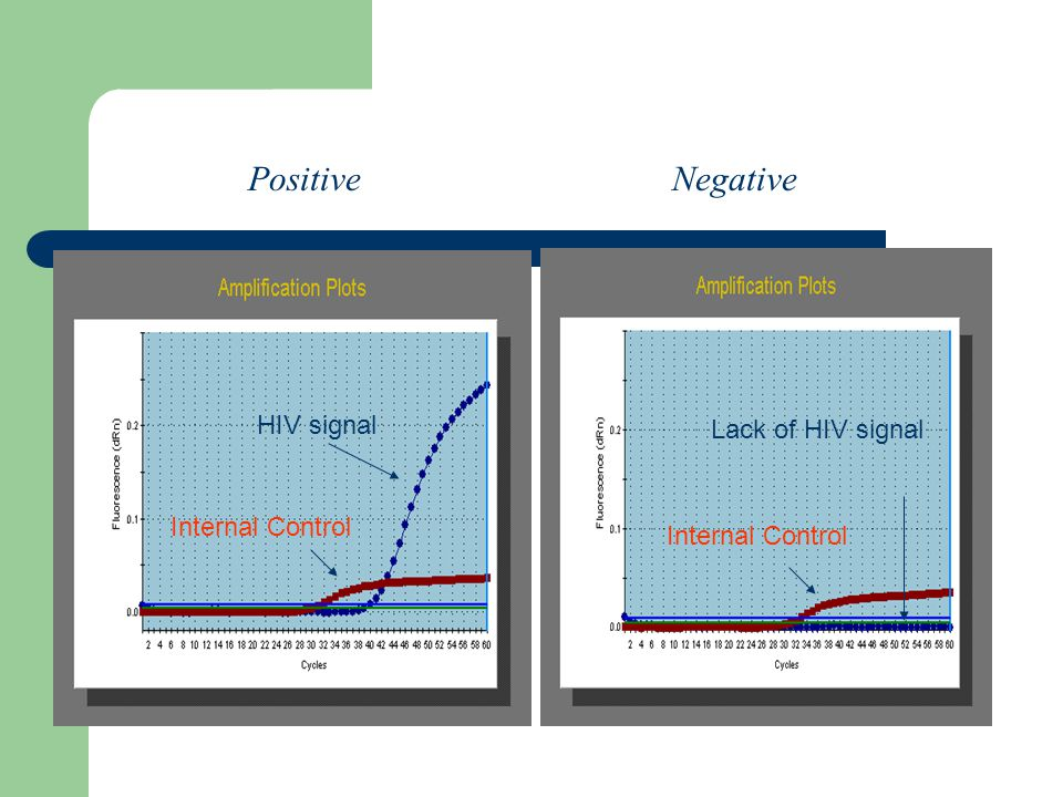Positive Negative HIV signal Internal Control Lack of HIV signal