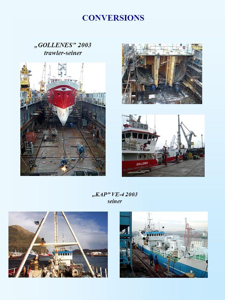 """""""GOLLENES"""" 2003 trawler-seiner """"KAP"""" VE-4 2003 seiner CONVERSIONS"""
