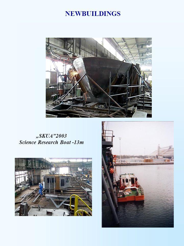 """""""SKUA""""2003 Science Research Boat -13m NEWBUILDINGS"""