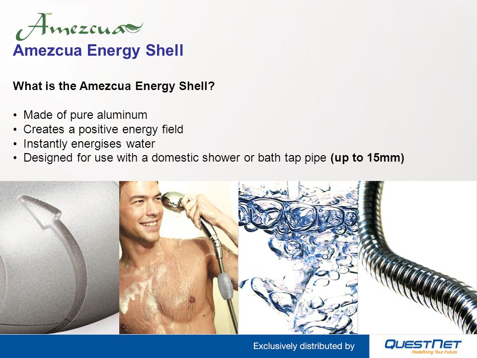 Amezcua Energy Shell What is the Amezcua Energy Shell? Made of pure aluminum Creates a positive energy field Instantly energises water Designed for us