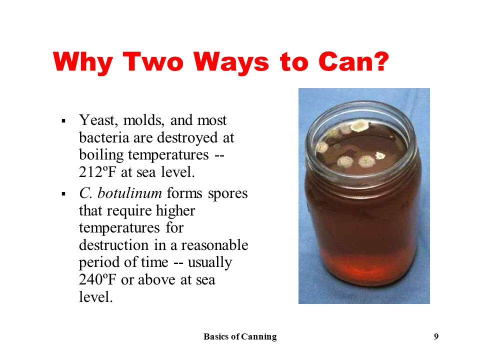 Basics of Canning 9 Why Two Ways to Can.