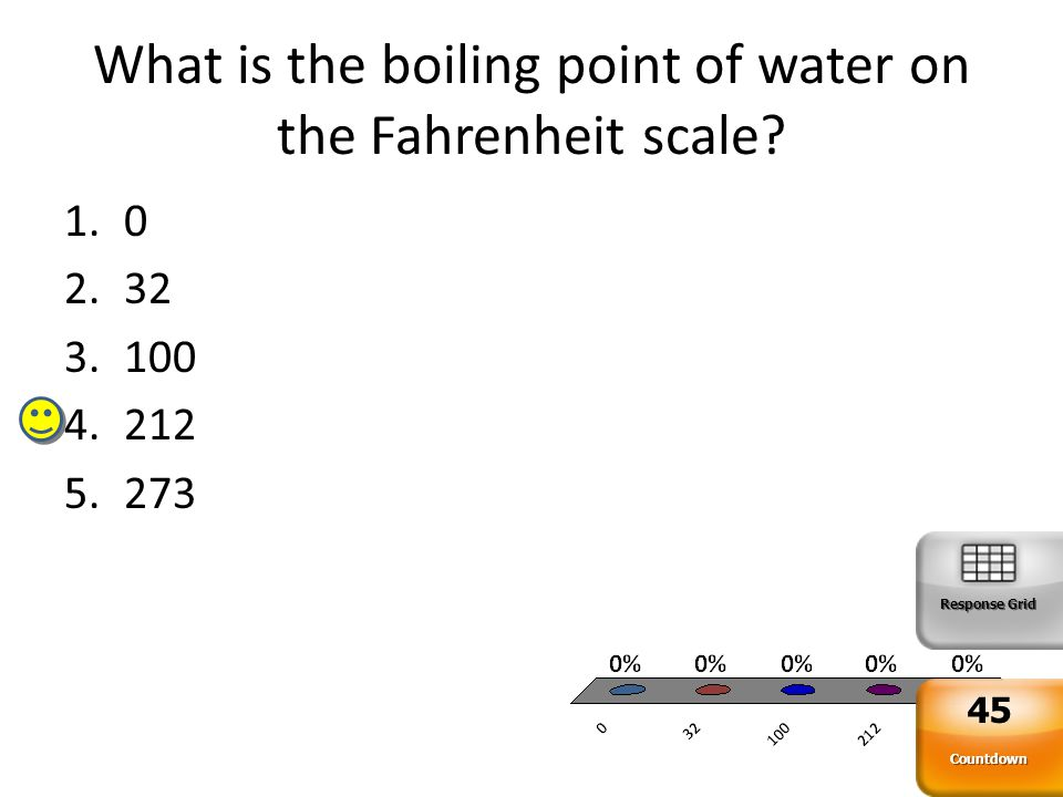 What is the boiling point of water on the Fahrenheit scale.