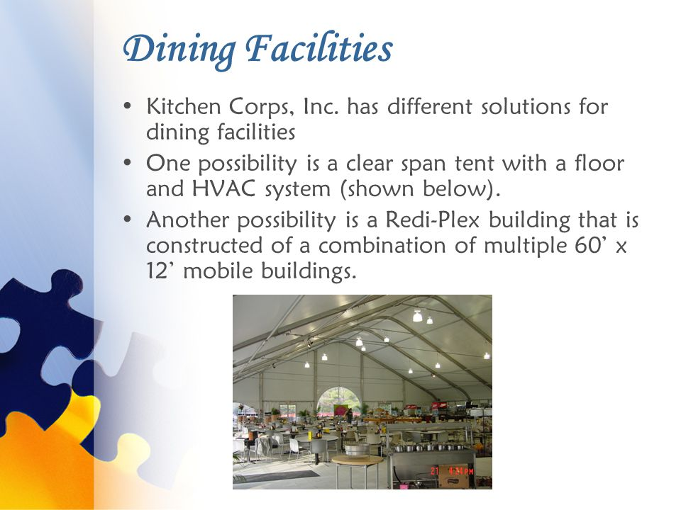 Dining Facilities Kitchen Corps, Inc.