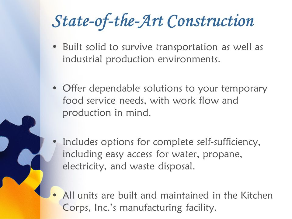 State-of-the-Art Construction Built solid to survive transportation as well as industrial production environments.
