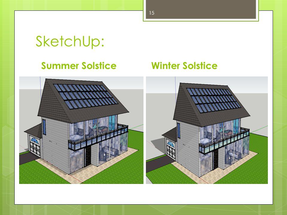 SketchUp: Summer SolsticeWinter Solstice 15