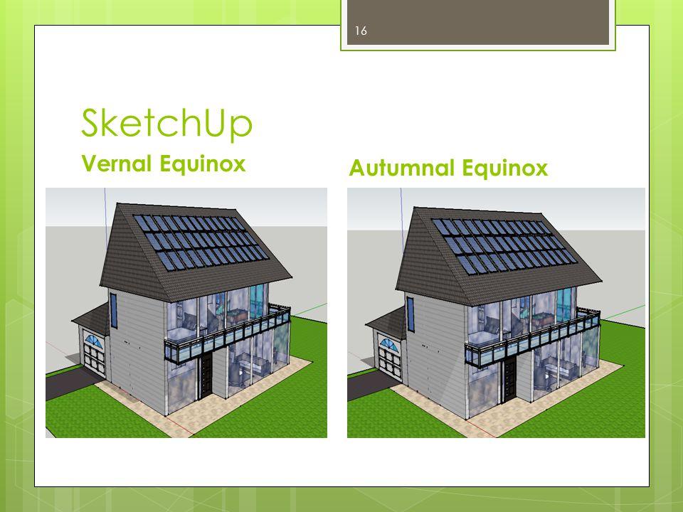 SketchUp Vernal Equinox Autumnal Equinox 16