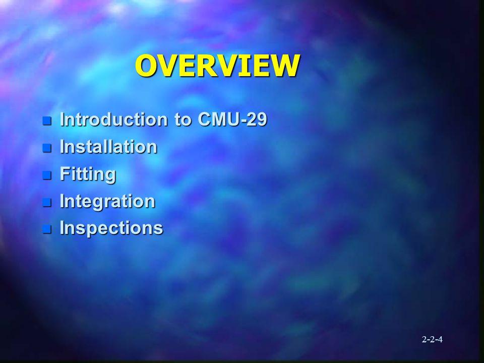 2-2-15 CMU-33/P INTEGRATION 6.Install windblast straps 7.