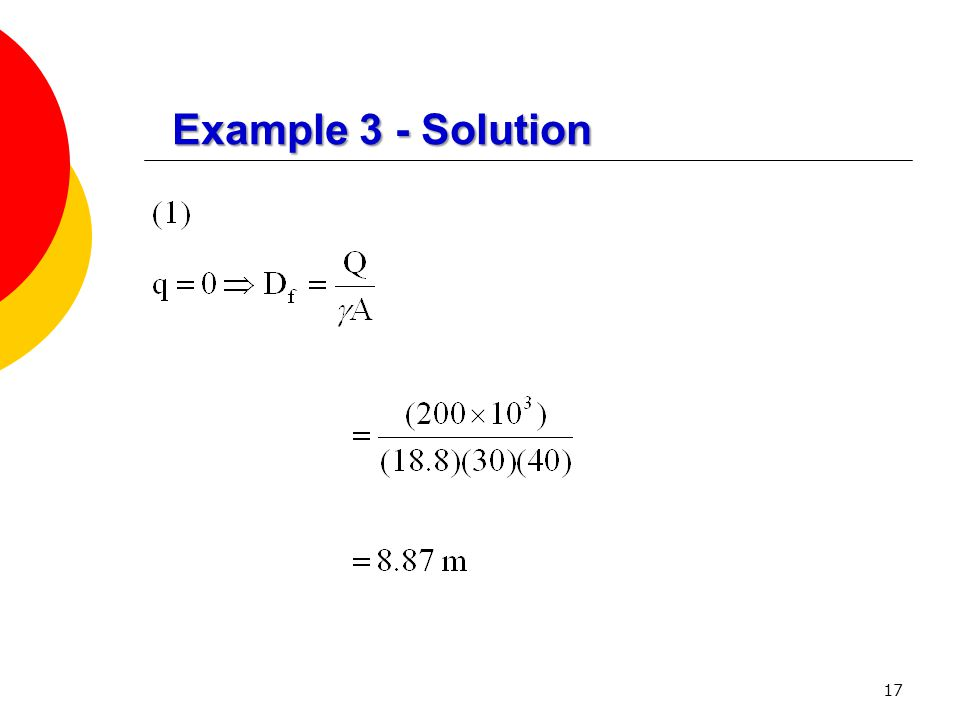 17 Example 3 - Solution