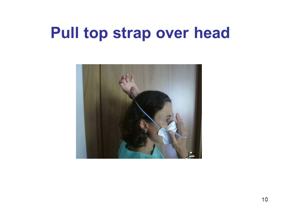 10 Pull top strap over head