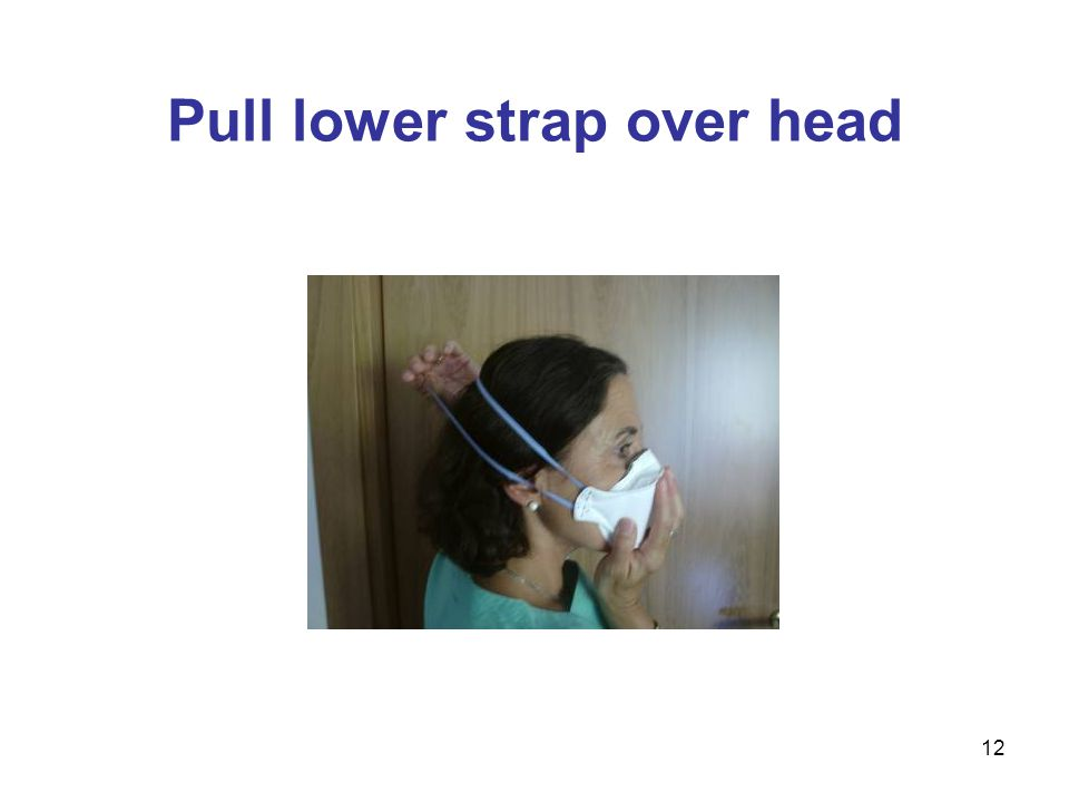 12 Pull lower strap over head