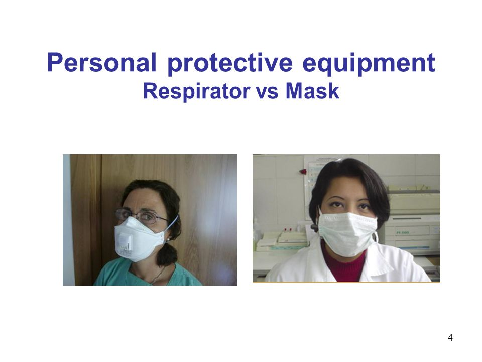 4 Personal protective equipment Respirator vs Mask