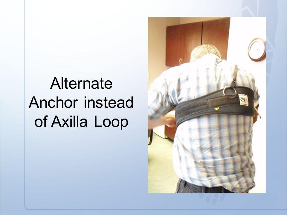 Alternate Anchor instead of Axilla Loop