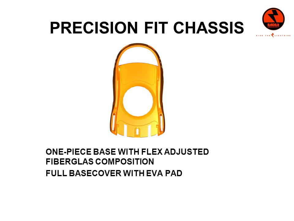 PRECISION FIT CHASSIS ONE-PIECE BASE WITH FLEX ADJUSTED FIBERGLAS COMPOSITION FULL BASECOVER WITH EVA PAD