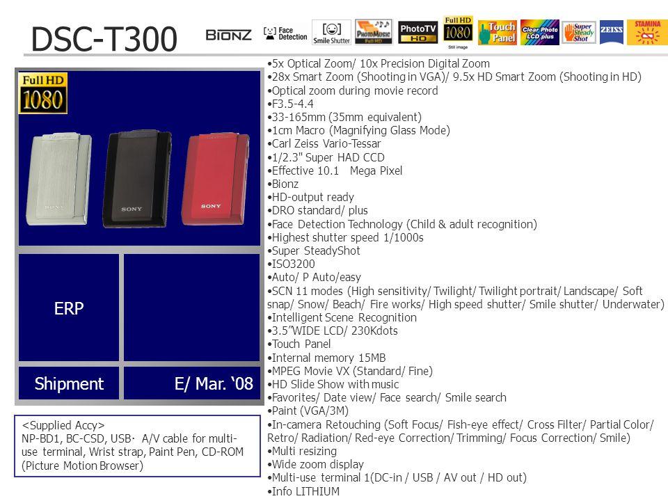 DSC-T300 ShipmentE/ Mar.