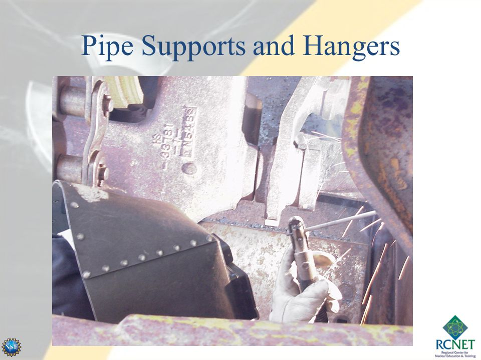 Course /Lesson Terminal Objective Using 13-PN-205, participants will identify requirements for the installation of pipe supports, hangers and piping system struts.