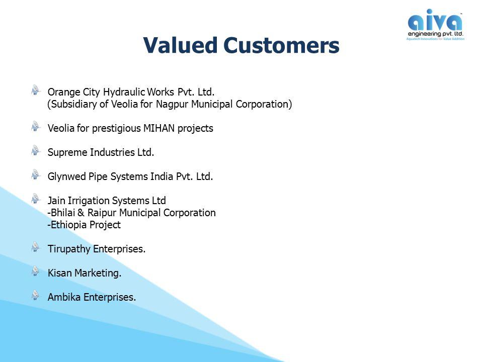 Valued Customers Orange City Hydraulic Works Pvt.Ltd.