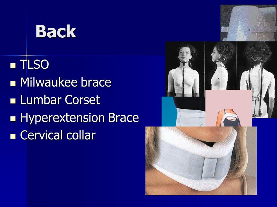Knee ACL/de-rotation brace ACL/de-rotation brace MCL brace MCL brace Knee sleeve Knee sleeve Cho-pat strap Cho-pat strap –Single and dual strap