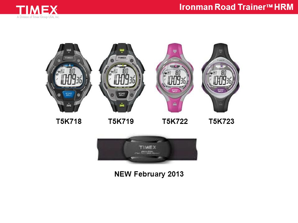 T5K734 Midsize Zone Trainer  HRM Flex Tech  Chest Strap is Washable and Comfortable Digital Transmission Sensor Eliminates Cross Talk and Electronic Interference Timing Mode Operation – Stopwatch or Countdown Timer 1 Custom Target Zone with Alerts Recovery Heart Rate Timer Improved Calorie Formula Recall Avg/Peak HR, Time in Zone, and Calories Burned Easy-to-Use User and HRM Setup HR in BPM or %-of-Max Format 30M WR Rated Watch
