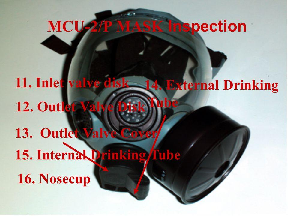 11.Inlet valve disk 12. Outlet Valve Disk MCU-2/P MASK Inspection 13.