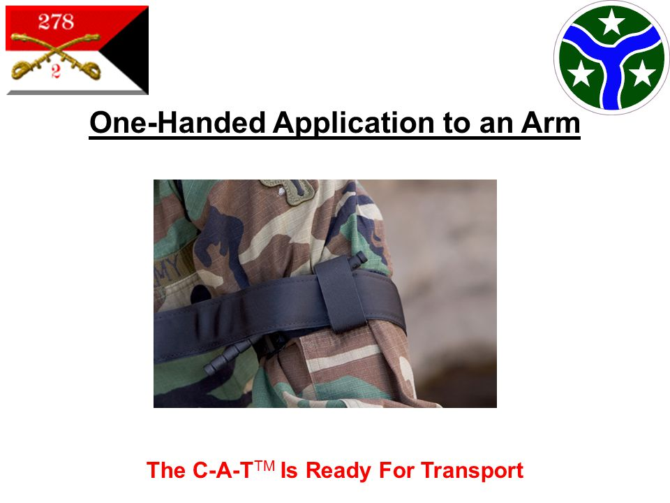 The C-A-T TM Is Ready For Transport One-Handed Application to an Arm