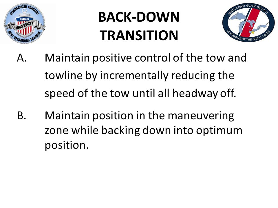 BACK-DOWN TRANSITION A.