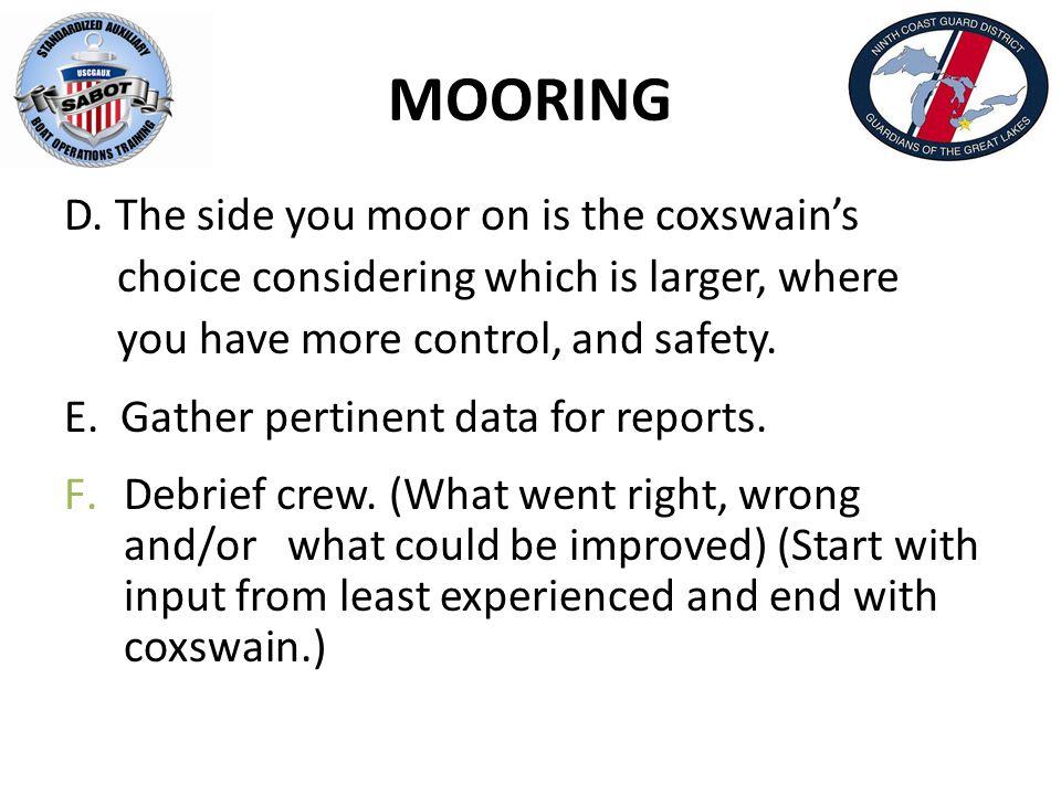 MOORING D.