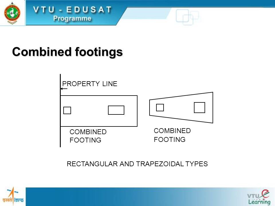 Combined footings Combined footings are provided to support two or more column loads.