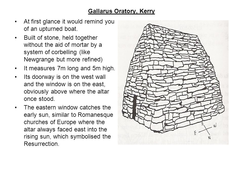 Gallarus Oratory, Kerry At first glance it would remind you of an upturned boat.