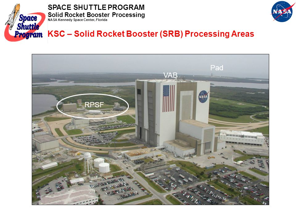 SPACE SHUTTLE PROGRAM Solid Rocket Booster Processing NASA Kennedy Space Center, Florida Shuttle Processing and Launch Postflight Hardware Recovery an