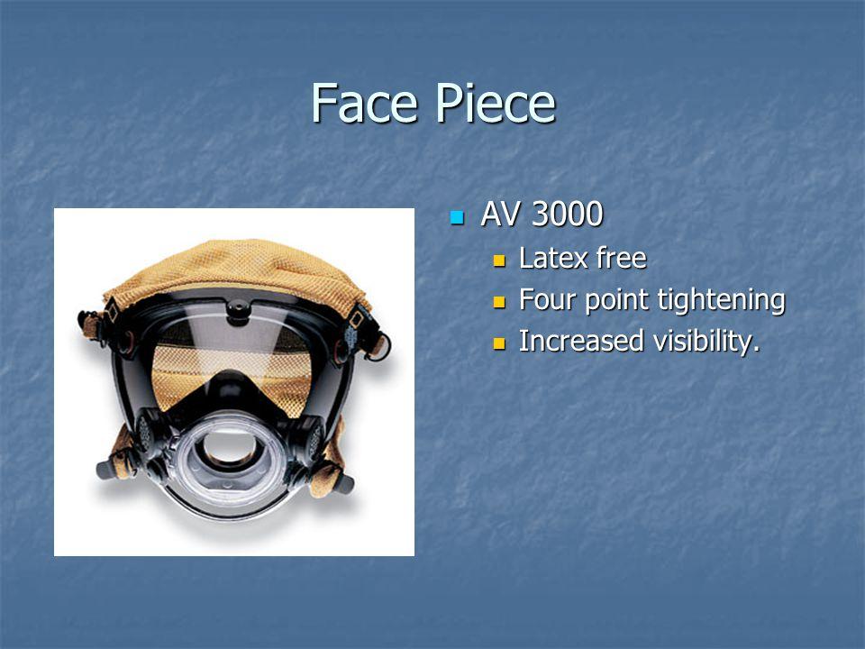 Face Piece AV 3000 AV 3000 Latex free Four point tightening Increased visibility.