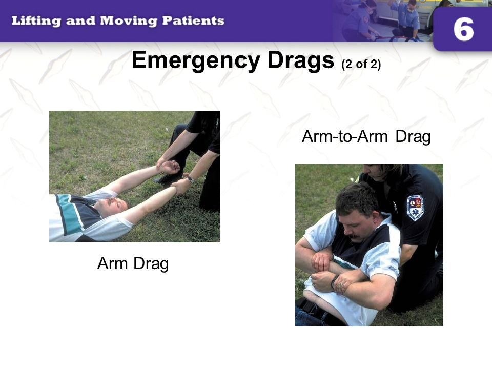 Emergency Drags (2 of 2) Arm-to-Arm Drag Arm Drag