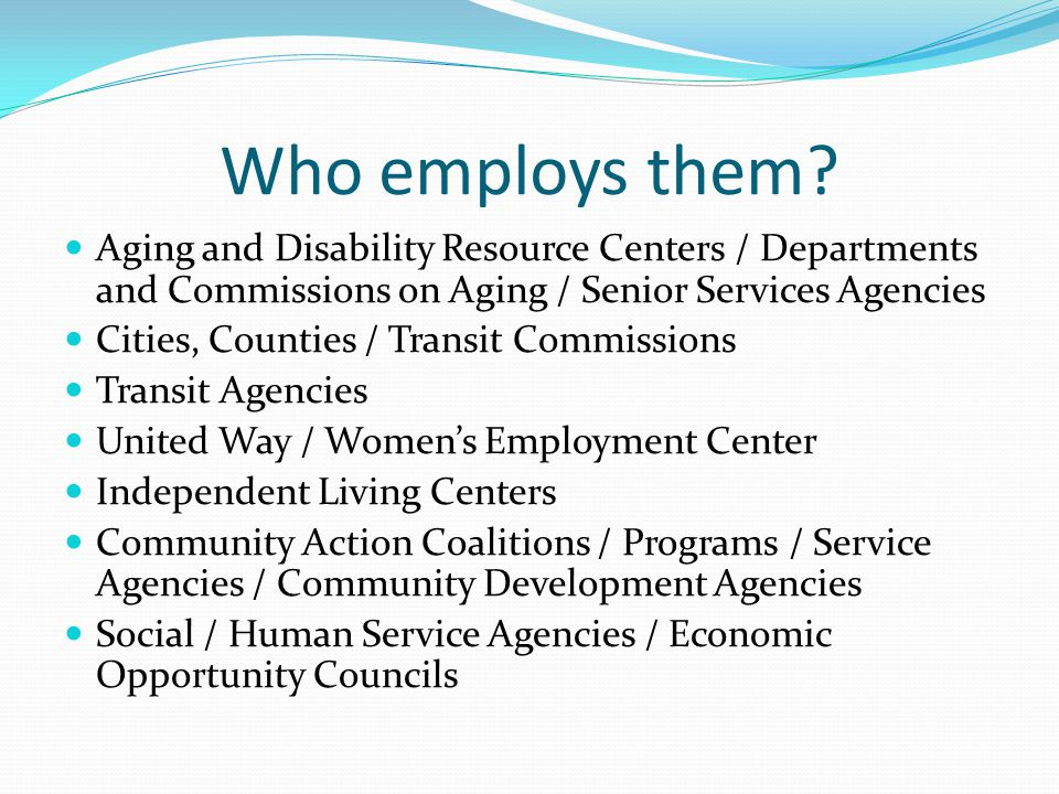 2009 projects and programs Continuation of most of the projects from 2008 9 new mobility management projects 2 are regional 4 new one-stop call centers 4 new 'Work-n-Wheels' car loan programs 1 new voucher program 1 additional travel training program 3 new service projects