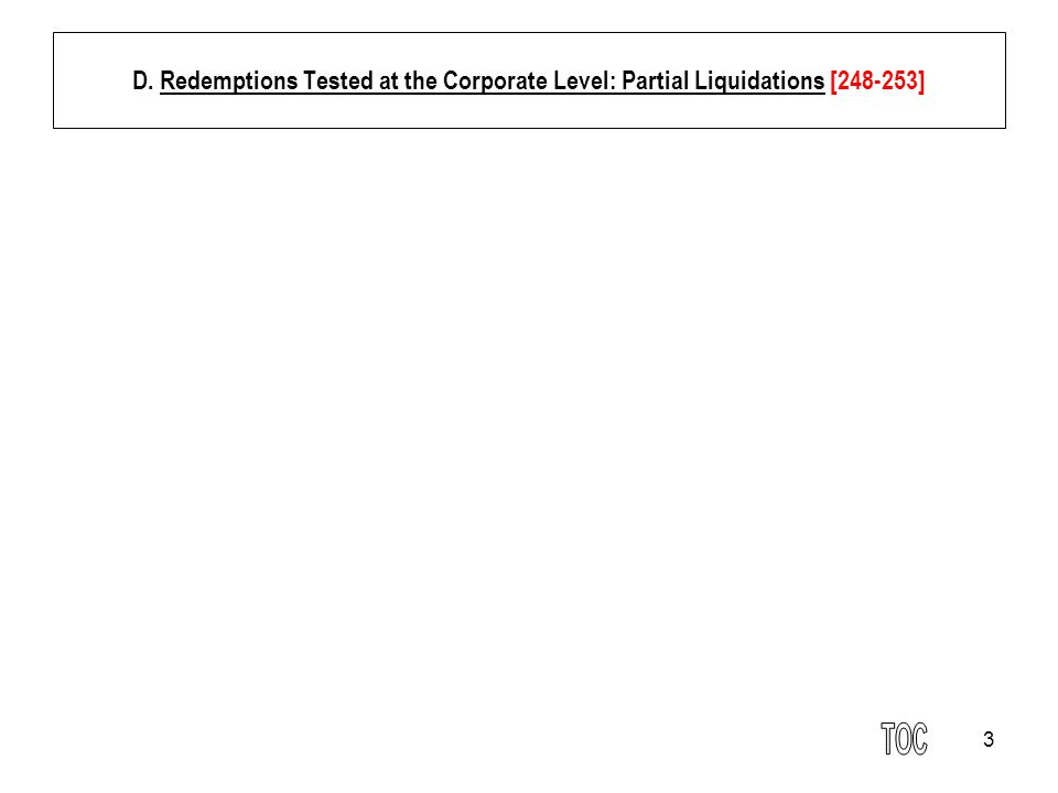 34 3.Charitable Contribution and Redemption [274-283] Case: Grove v.
