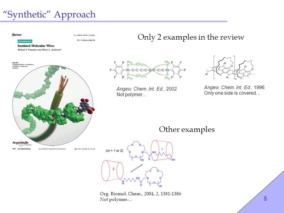 6 How Can We Make Insulated Polythiophene? ? Intramolecular Rotaxane???