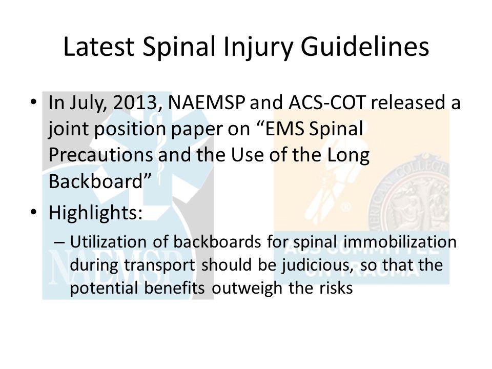 Michigan Spinal Precautions Procedure